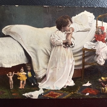 Postcard A Girls Bedroom Postmarked 1912 - Postcards