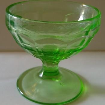 Hazel Atlas Colonial Block  sherbet bowl - Glassware