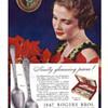 1847 Rogers Bros Silverplate Flatware in the 1936 LOVELACE Pattern