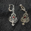 835 Silver and Garnet Vintage Earrings
