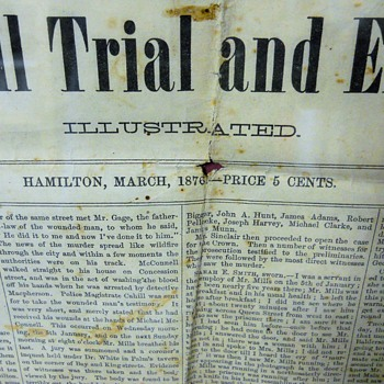 Canadian Illustrated, The Hamilton murder trial of Michael McConnell, Circa March 4, 1876 - Paper