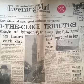 1965-Winston Churchill funeral -Birmingham evening mail.