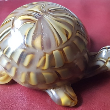 Unusual Tortoise glass paperweight