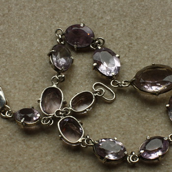 Silver and amethyst bracelet - Fine Jewelry
