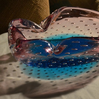 Sommerso Bullicante Italian Glass Cigar Bowl - more info?