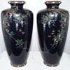 Pair of Japanese Meiji Period Cloisonne Vases by Hayashi Chuzo