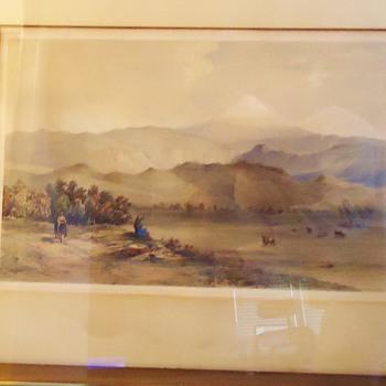Eng. print 1846 Orizaba Mex. Day & Son Litho to the Queen Volcano by Veracruz