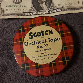 old SCOTCH ELECTRICAL TAPE advertising tin - Advertising