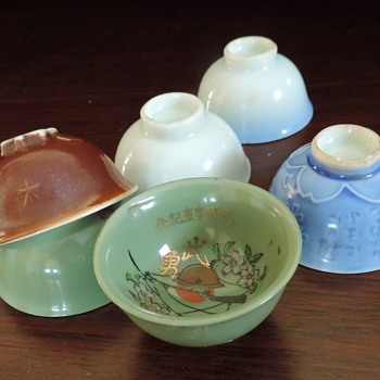 Japanese miniature helmets WWII sake cups - Asian