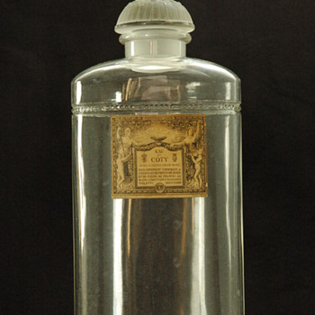 large perfume bottle BACCARAT & LALIQUE for COTY - Art Deco