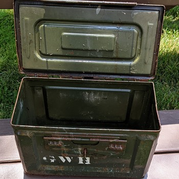 440 Cal ammunition box. - Military and Wartime
