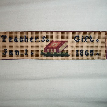 Needlework bookmark 1865 - Victorian Era