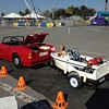 Fiber glass boat with miniature Mercedes SL500 go kart