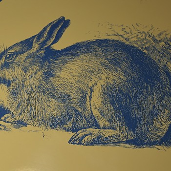 Large Porcelain Sign of a Blue Rabbit??
