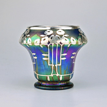 Loetz MEDICI with Vienna Secession silver overlay- Update - Art Glass