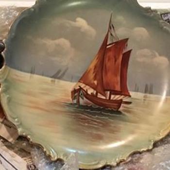 Limoges B & H France  Sailboat plate