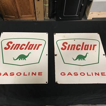 Sinclair gas pump plates  - Petroliana