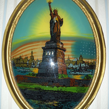 REVERSE PAINTING GODDESS OF LIBERTY PICTURE - Posters and Prints