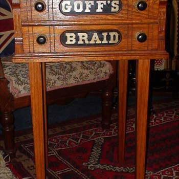 Goff's Braid Country Store Braid Cabinet - Advertising