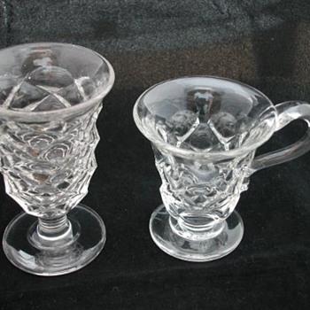 English Thomas Gammon optical illusion jelly glass - Glassware