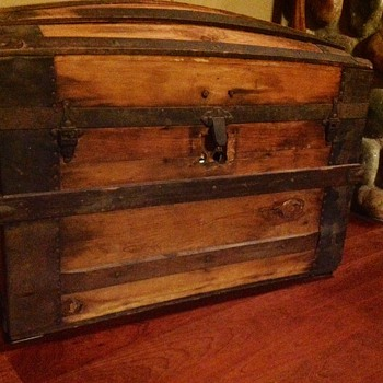 M.M. Secor Travel Chest - Hardware and Age Help - Furniture