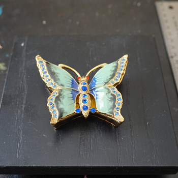 Butterfly Trinket Box - Costume Jewelry