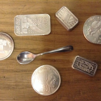 Small sterling silver spoon