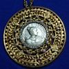 "Nettie Rosenstein ""Marie Louise"" medallion brooch"