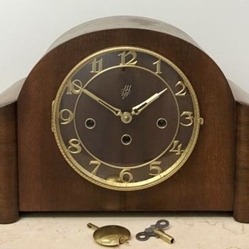 RESTORED Vintage EJU WESTMINSTER Mantel Clock - Clocks