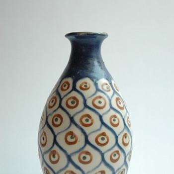 "french art decopottery vase ""ANANAS"" byLéon Elchinger (1871-1942) - Art Deco"