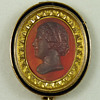Carnelian Cameo Brooch in Neoclassical Gold Mount - Possibly Maria Feodorovna, wife of Paul I of Russia