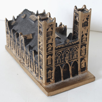 Model of the Notre Dame Basilica, Montreal, PQ, Canada - Advertising