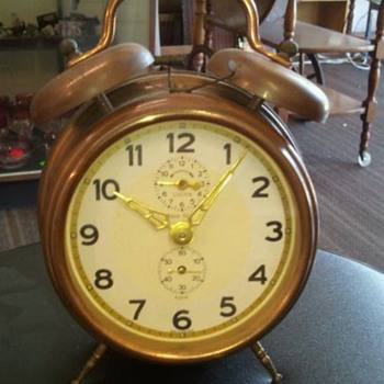 Vintage CucKoo Alarm Clock, Copper (pre War?) - Clocks