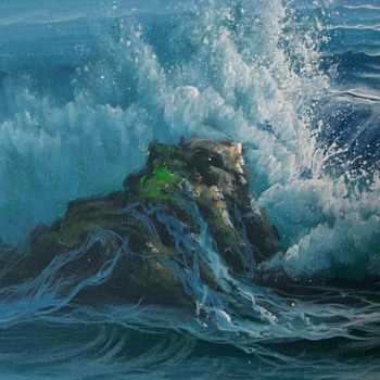 Seascape painting - signed H. GAILEY - Fine Art