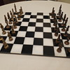 Bizarre theme vintage chess set - What are these characters?