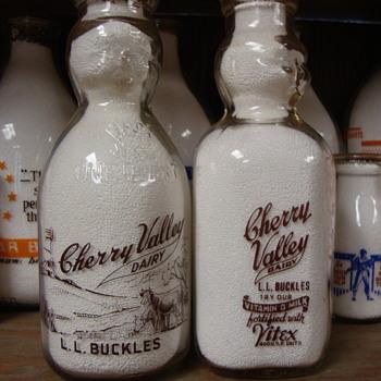 CHERRY VALLEY DAIRY...EVERETT MASSACHUSETTS...BABY TOP MILK BOTTLES - Bottles