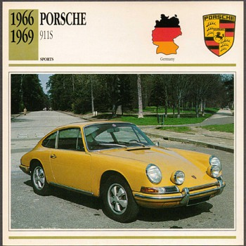 Vintage Car Card - Porsche 911S
