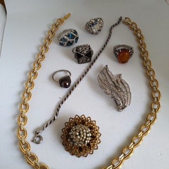 Thrift store treasures - Costume Jewelry