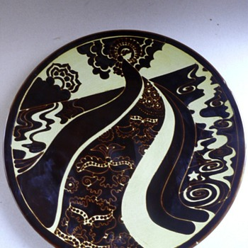 poole pottery aegean range charger by ros sommerfelt - Pottery
