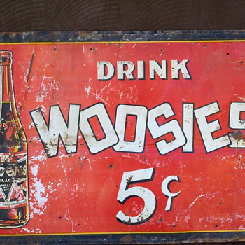 WOOSIES SODA SIGN