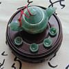natural burma jade A tet set teapot art craft