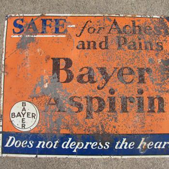Bayer Aspirin Sign