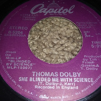 Thomas Dolby...On 45 RPM Vinyl - Records