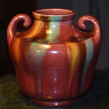 Another Awaji Muscle Vase - Asian