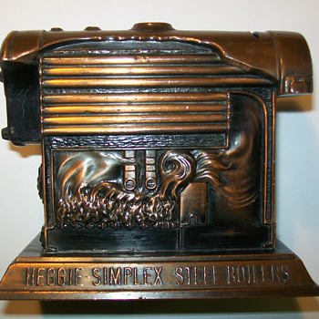 Heggie-Simplex Boiler Coin bank - Advertising