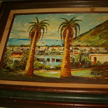 "Old Tiberias Painting,Signed ""SAL"" - Fine Art"