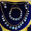 Antique Victorian Ceylon Moonstone 15kt Parure Necklace Earrings Bracelet Parure
