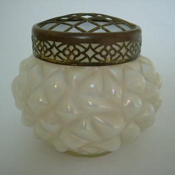 Iridescent Art Nouveau Rose Bowls - Art Glass