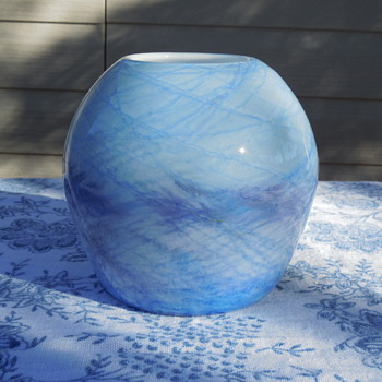 Early David Lindsay art glass Vase While At Nourot Glass Studio In 1983 - Art Glass