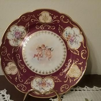 Cherub plate by Wehsener - China and Dinnerware